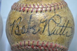Babe Ruth non-genuine signed baseball