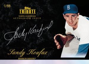 Sandy Koufax autographed 2012 Tribute