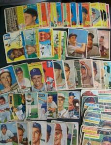 Baseball card lot mixed years