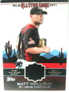 Matt Holliday 2011 Topps Update All Star Stitches