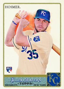 Eric Hosmer 2011 Allen and Ginter glossy