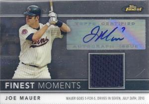 Joe Mauer autographed 2011 Finest Moments