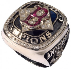 2004 World Series ring Red Sox