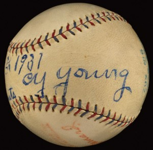 Cy Young signed baseball