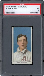 Ediie Plank T206 tobacco card PSA 5