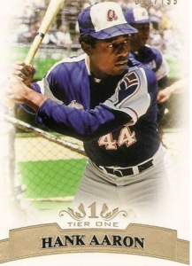 Hank Aaron Topps Tier One base