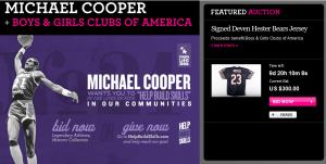 eBay Celebrity Auctions Michael Cooper