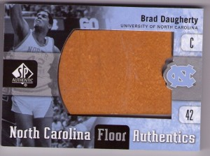 Brad Daugherty 2011-12 SP Authentics UNC floor