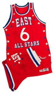 1983 NBA All Star uniform Julius Erving