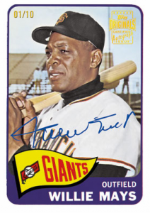 Willie Mays autograph 2012 Fan Favorites