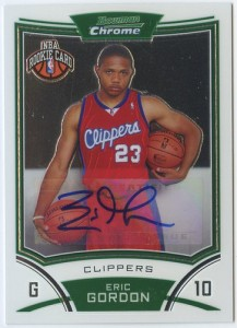 Eric Gordon Bowman Chrome rookie auto