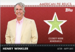 Henry Winkler Topps American Pie relic