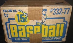 Unopened 1977 Topps baseball card case
