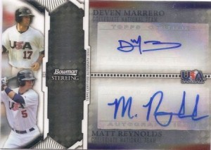 Matt Reynolds Devin Marrero autographed 2011 Bowman Sterling