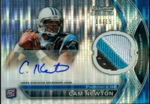Cam Newton 2011 Bowman Sterling auto