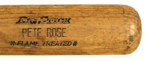 Game used Pete Rose Bat