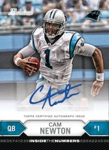 Cam Newton autograph 2012 Bowman