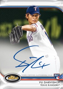 Yu Darvish 2012 Topps baseball card Finest