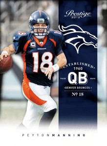 Broncos Peyton Manning card