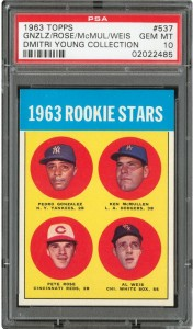 PSA 10 Pete Rose Rookie card