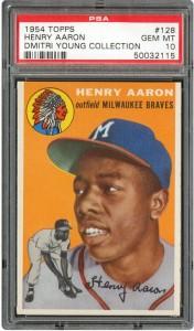 PSA 10 1954 Topps Hank Aaron