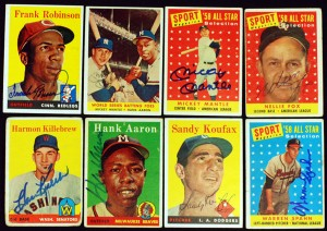 Signed 1958 Topps cards