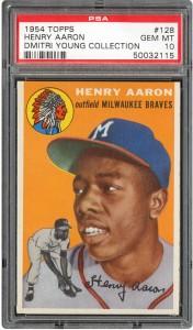 Hank Aaron rookie card PSA 10