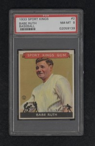 Babe Ruth 1933 Sport Kings baseball card