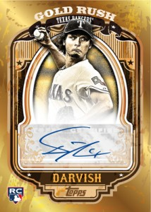 Autographed Yu Darvish Gold Rush card