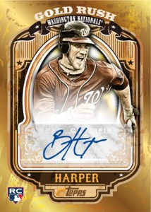 Bryce Harper Topps autograph Gold Rush