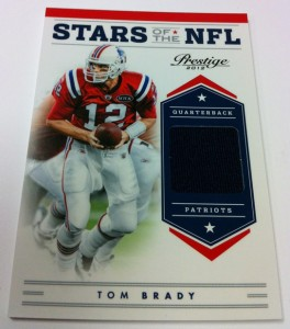 Tom Brady relic card 2012 Panini