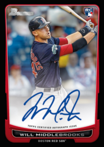 Will Middlebrooks auto Topps rookie