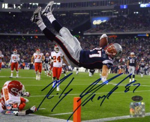 Signed Rob Gronkowski photo