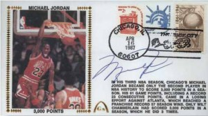Michael Jordan signed Gateway cover