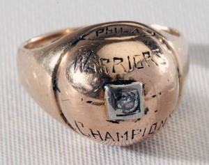 1947 Philadelphia Warriors championship ring