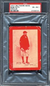 Babe Ruth rookie card 1914