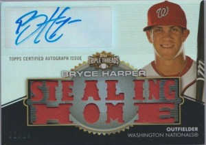 2012 Triple Threads Bryce Harper autograph