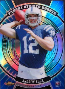 2012 Topps Finest Andrew Luck die-cut