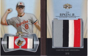Cal Ripken 2012 Triple Threads relic auto