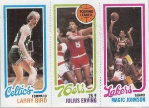 1980-81 Larry Bird Magic Johnson rookie