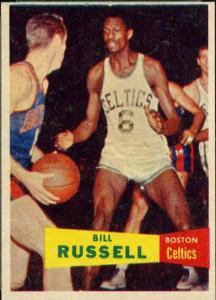 Bill Russell rookie card