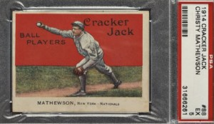 Christy Mathewson PSA 5 1914 Cracker Jack