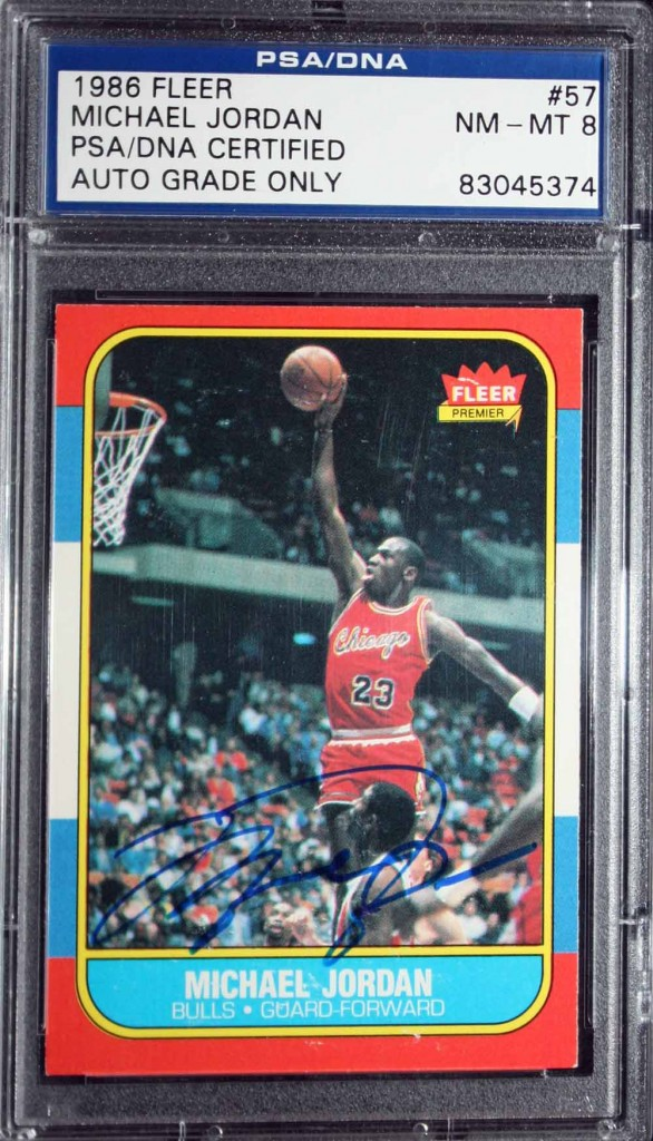 Michael Jordan signed rookie card