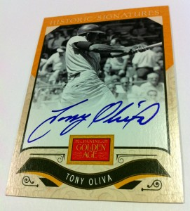Golden Age 2012 Tony Oliva autograph