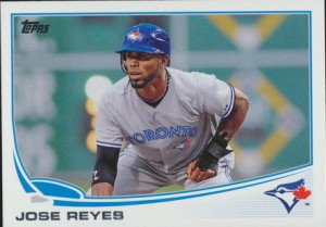 Jose Reyes Blue Jays card