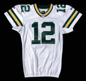 Game worn Aaron Rodgers Packers jersey