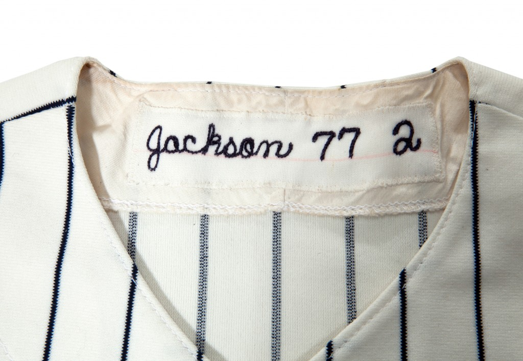Yankees collar stitching 1977 Reggie Jackson World Series