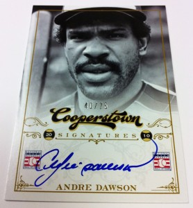 Autographed Andre Dawson card