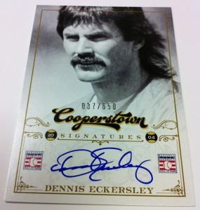 Signed Dennis Ecklersey Panini Cooperstown