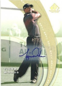 Tiger Woods auto SP Game Used golf